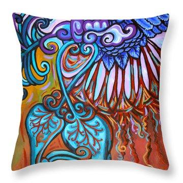 Bird Heart I Throw Pillow by Genevieve Esson
