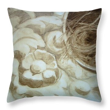 Bird Nest 2 Throw Pillow