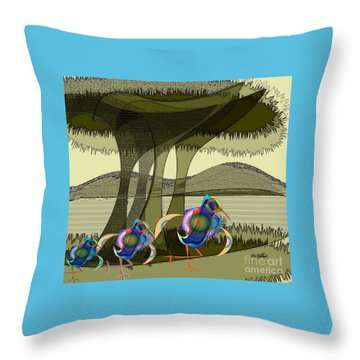 Bird Of A Different Colour Throw Pillow by Iris Gelbart