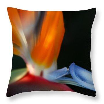 Bird Of Paradise Throw Pillow by Sharon Mau