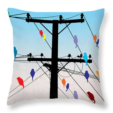 Birds  Throw Pillow by Mark Ashkenazi