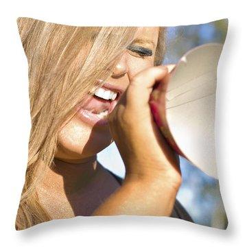 Birthday Announcement Throw Pillow