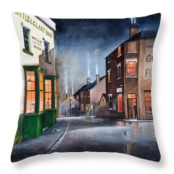 Black Country Village Centre Throw Pillow