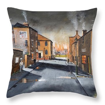 Black Country Village From The Boat Yard Throw Pillow
