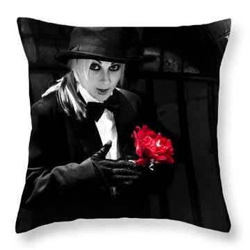 Black Magician With Surprise Gift Throw Pillow