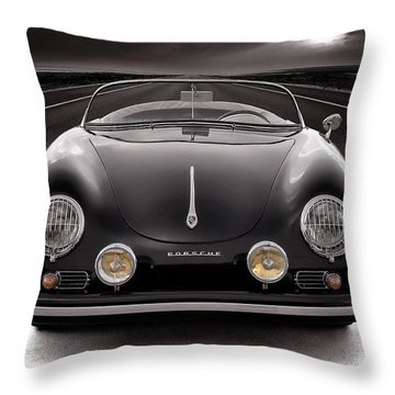 Black Speedster Throw Pillow