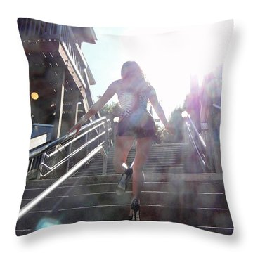Throw Pillow featuring the photograph Blink by Nick David