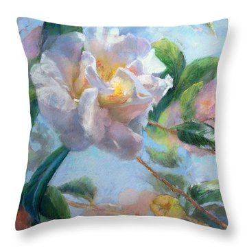 Blooming Flowers Throw Pillow by Nancy Stutes