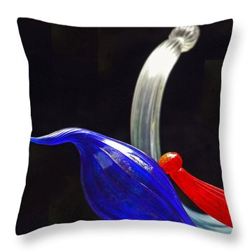 Blown Glass By Dale Chihuly Throw Pillow