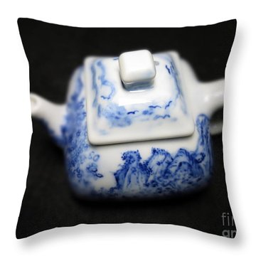 Blue And White Porcelain Throw Pillow