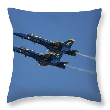 Blue Angels Double Over Moon 2 Throw Pillow by D Wallace