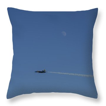 Blue Angels Lone Ranger Under Moon Throw Pillow by D Wallace