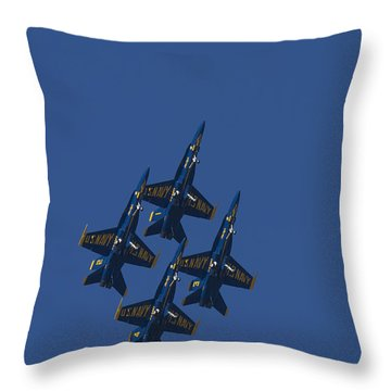 Blue Angels Overhead 1 Throw Pillow by D Wallace