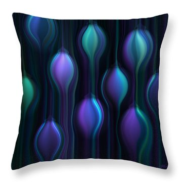 Blue Chandeliers Throw Pillow