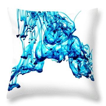 Blue Descent Throw Pillow
