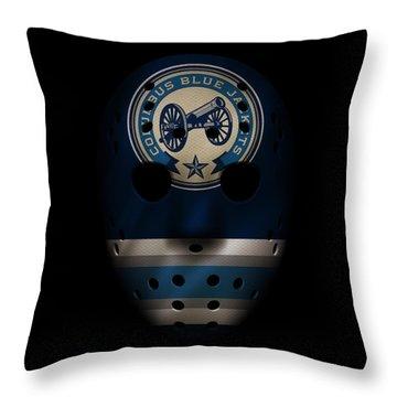 Blue Jackets Jersey Mask Throw Pillow