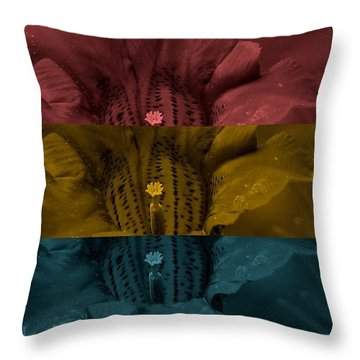 Blue Monday Throw Pillow by Holley Jacobs