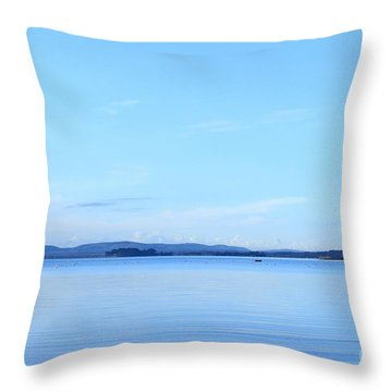 Blue Mood Throw Pillow by Katy Mei