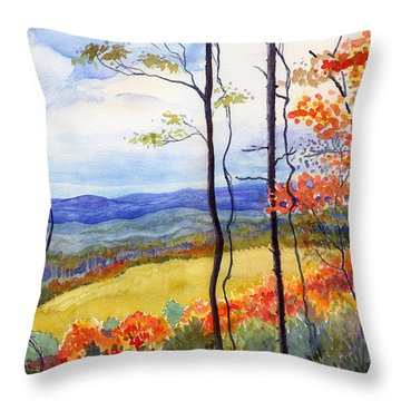 Blue Ridge Mountains Of West Virginia Throw Pillow by Katherine Miller