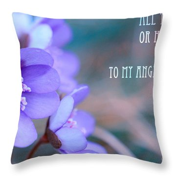 Blue Springtime Flowers Mother's Day Throw Pillow