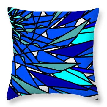 Blue Sun Throw Pillow by Elizabeth McTaggart