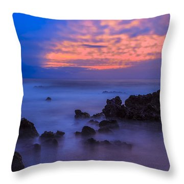 Blue Sunrise 1 Throw Pillow by Leigh Anne Meeks