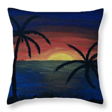Throw Pillow featuring the painting Blue Tides by Arlene Sundby