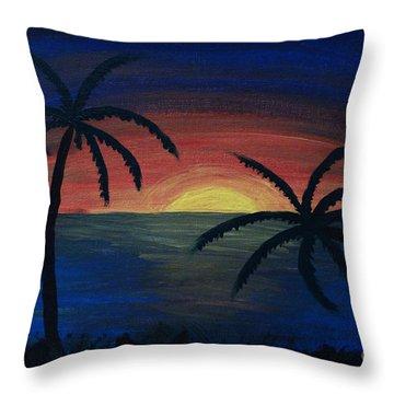 Blue Tides Throw Pillow