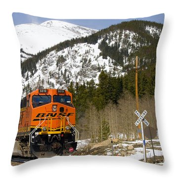 Bnsf Rolls Through Rollins Pass Colorado Throw Pillow