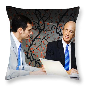 Boardroom Business Meeting Throw Pillow