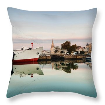 Boats At Maritime Museum, La Rochelle Throw Pillow