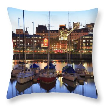 Throw Pillow featuring the photograph Boats by Bernardo Galmarini