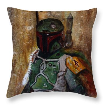 Boba Fett Throw Pillow