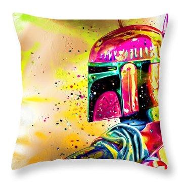 Boba Fett Star Wars Throw Pillow