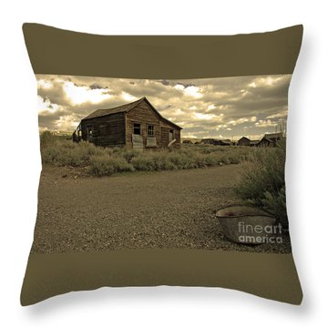 Throw Pillow featuring the photograph Bodie California by Nick  Boren