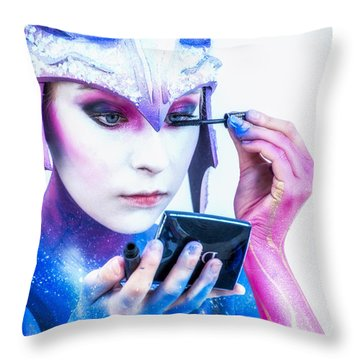 Bodypainting Throw Pillow