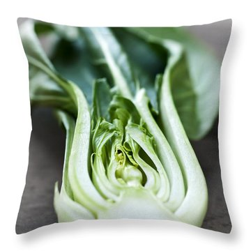 Bok Choy Throw Pillow by Elena Elisseeva
