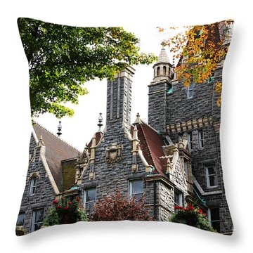 Boldt Castle Throw Pillow by Tony Cooper