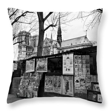 Book Sellers By The Seine / Paris Throw Pillow