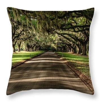 Boone Plantation Road Throw Pillow
