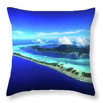 French Polynesia Throw Pillows