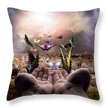 Born Again Israel Throw Pillow