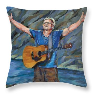 Born To Praise Throw Pillow by Chris Brandley