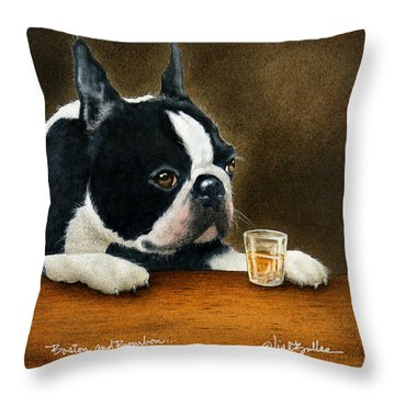 Boston And Bourbon... Throw Pillow