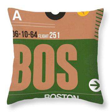 Boston Luggage Poster 1 Throw Pillow