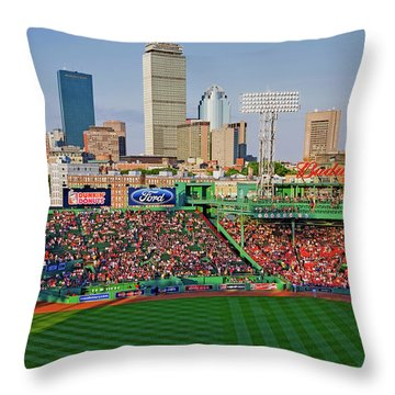 Boston Skyline With View Of Historic Throw Pillow