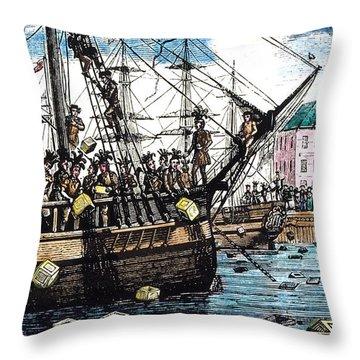 Boston Tea Party, 1773 Throw Pillow by Granger