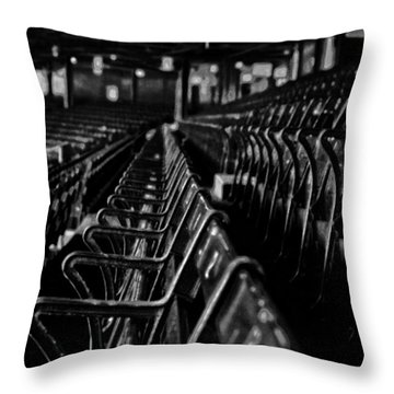 Bostons Fenway Park Baseball Vintage Seats Throw Pillow