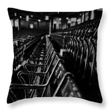 Bostons Fenway Park Baseball Vintage Seats Throw Pillow