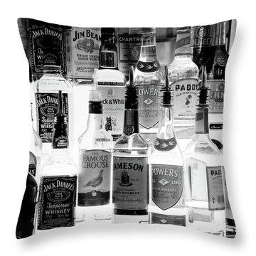 Bottles Of Liquor, De Luans Bar Throw Pillow